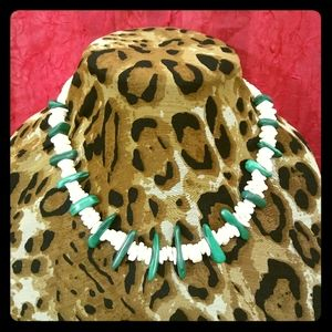 Malachite/Puka Shell Necklace